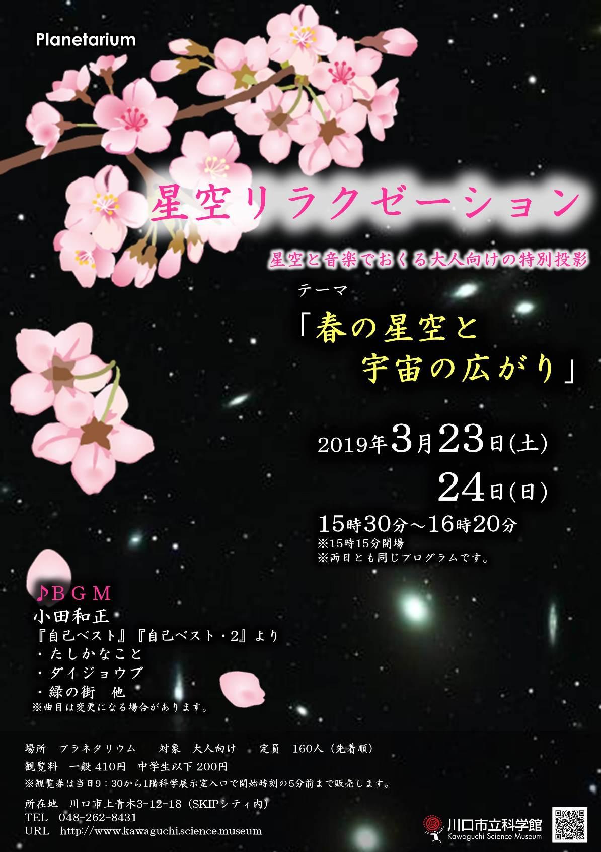 星空リラクゼーションポスター(19年3月)